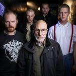 """Patrick Stewart, center, with Brent Werzner, Samuel Summer, Colton Ruscheinsky and Mason Knight in """"Green Room."""""""