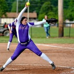 Male pitcher Olivia Suski pitches the ball during the game against Butler.  Adam Creech/ Special to The Courier-Journal