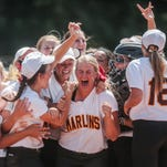 Senior Andrea Elmore pitched a five-hit shutout to lead Mercy to a 4-0 victory in the Division 1 state championship game Saturday.