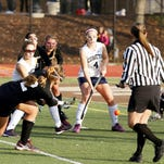 Established programs like Palmyra and Penn Manor, shown here in last season's District 3-AAA title game are thriving, but  field hockey teams at smaller schools are struggling to attract players.