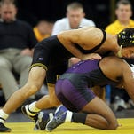 No. 3 Iowa slams No. 20 South Dakota State in dual