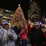 2017 Detroit Christmas tree lighting