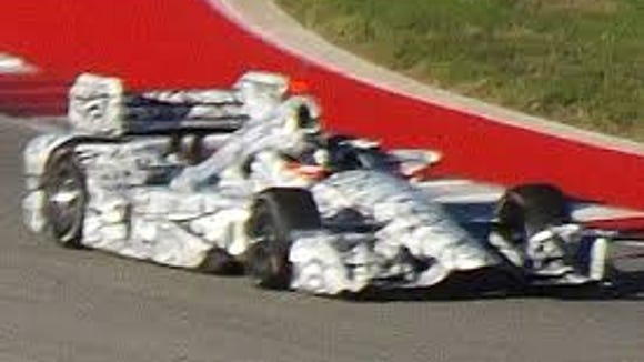 This is the only IndyCar aero kit spy shot that has leaked out. It's believed to be a Chevrolet testing at Circuit of the Americas in Austin, Texas, in October.