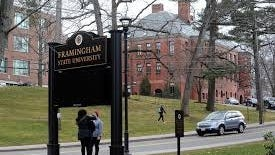 Campus police at Framingham State University are being reminded to wear masks when approaching students after a member of the university's student government raised concerns about a violation of campus policy.