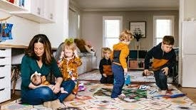 """Melissa Wirt, the owner of Latched Mama, an online clothing retailer geared to nursing moms based in Midlothian, Virginia, says """"There are great partners and great men who support their entrepreneurial wives, but at the end of the day, there is so much extra weight on women's shoulders that can't even be measured."""""""