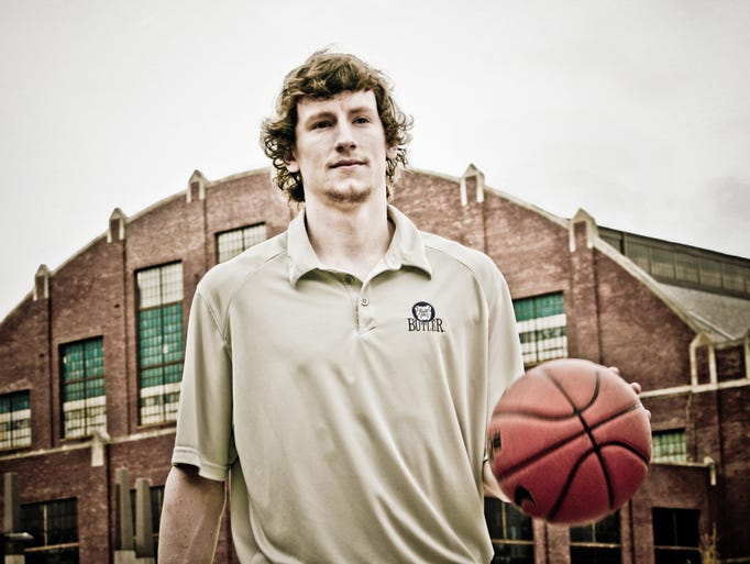 Butler's Matt Howard takes a stroll on campus for a photo session, Wednesday April 27th, 2011.