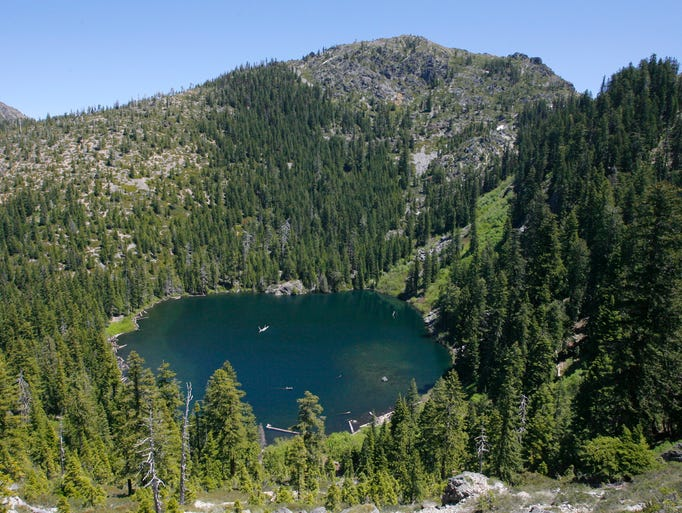 Raspberry Lake sits in the Siskiyou Wilderness just across the Oregon and California border.