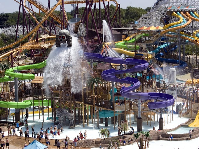 Nearly ever Six Flags amusement park has an onsite water park, convenient for getting out of the heat and into the water for a break.