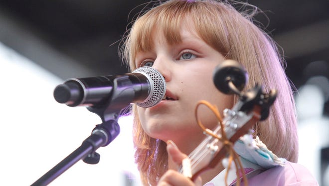 Grace VanderWaal performs for fans at the Ramapo Summer Concert Series at Palisades Credit Union Park in Pomona on Friday.