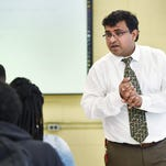 Special education teacher Ravi Dutt co-teaches in Kimberly Kuykendall's U.S. history class at Holmes County Central High School in Lexington.