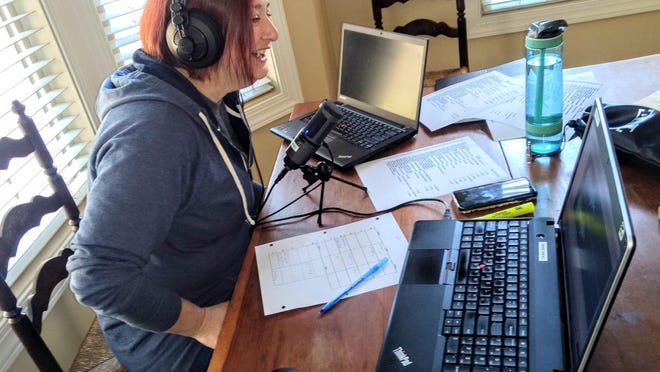 At the beginning of COVID-19,  Kayleigh Kiss broadcast her Mix 94.1 midday show from her North Canton home. Then she was furloughed and eventually let go from the station.