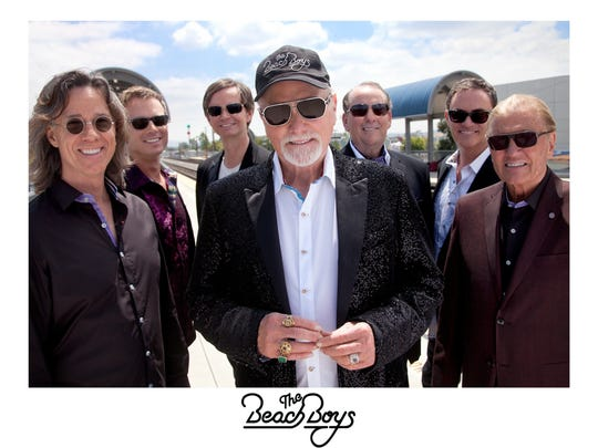 Mike Love, center, and the Beach Boys will perform Friday at the North American International Auto Show.