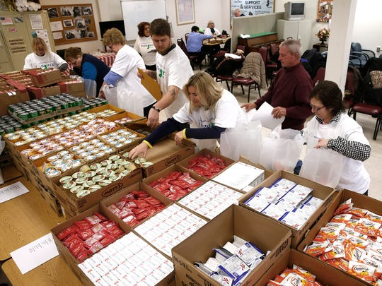 An Inauguration Committee Martin Luther King Day event brought volunteers to the Meals on Wheels of Ocean County program in Lakewood Monday, January 15, 2017.