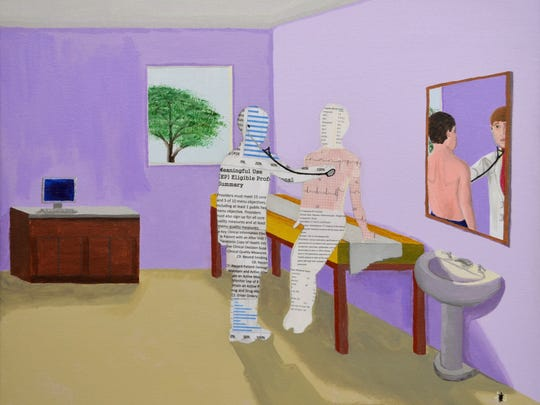 """James Breen's """"Reflection of an Office Visit"""" is featured"""