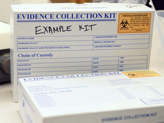 Example rape kit that is sent for testing by scientist at crime labs.
