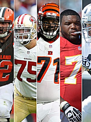 The Colts' free agent wish list has a common theme: Offensive linemen.