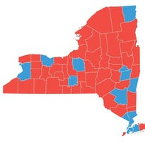UPSTATE SEES RED: Most NY counties voted for change