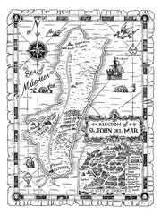 "The map featured at the beginning of ""Isle of Blood"