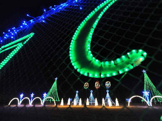 Christmas lights at Fond du Lac's Lakeside Park brighten