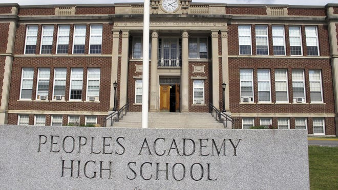Peoples Academy High School softball field which is shared with two other local schools were hit with hate symbols, according to Morristown's Police Chief. The incident was reported on Thursday, Aug. 9, 2018. (AP Photo/)