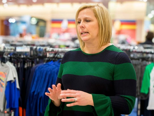 Von Maur COO Melody Wright discusses the company's plans to open a store at Jordan Creek Town Center in 2022 during a visit to West Des Moines on Wednesday.