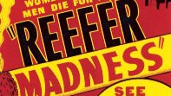 Detail from the 1936 movie poster for 'Reefer Madness.'