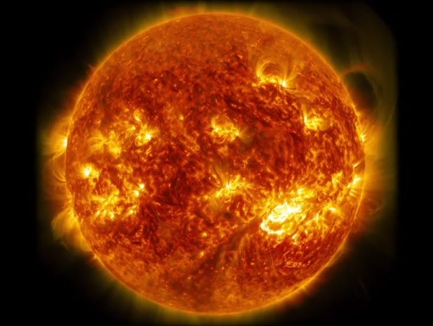 The sun emitted a solar flare on Friday.