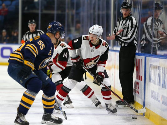 USP NHL: ARIZONA COYOTES AT BUFFALO SABRES S HKN BUF ARI USA NY