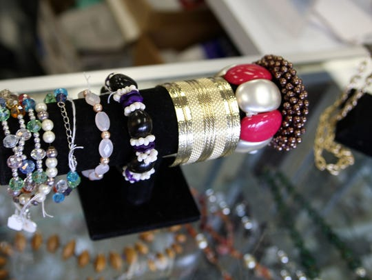 Jewelry items on display at the Discovery Shop, Salinas,