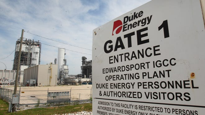Duke Energy's new $3.5 billion coal-gasification plant in Edwardsport, shown on June 12, 2013.