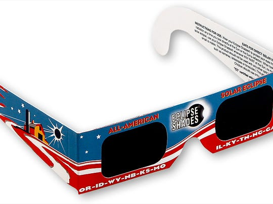 Rainbow Symphony is offering a selection of designs, including this Americana themed pair of eclipse glasses.