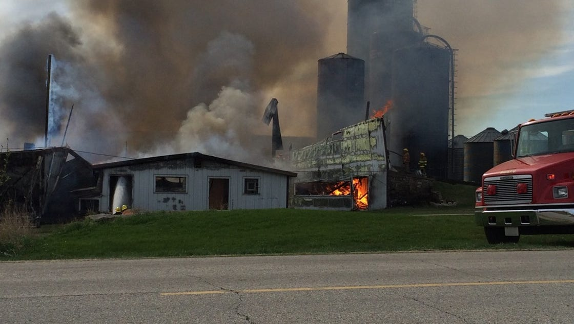 Crews Fight Barn Fire In Southern Door County