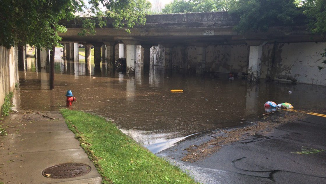 Flash Flooding Roads Swamped In Broome Tioga