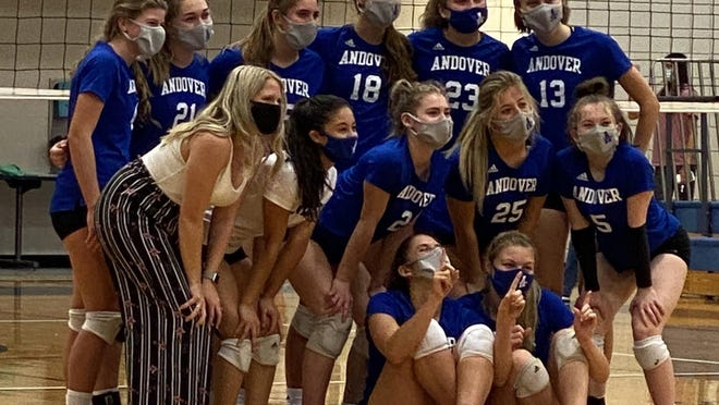 The Andover Trojans celebrate an undefeated AVCTL-II season and league title on Tuesday, Oct. 13 at Andover High School.