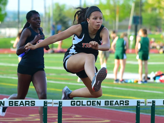 Union-Endicott girls track during STAC Track and Field