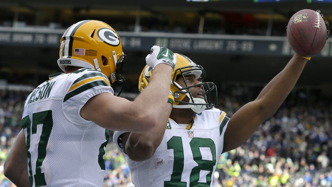 Green Bay Packers wide receivers Randall Cobb, right, and Jordy Nelson are expected to remain a dynamic duo.
