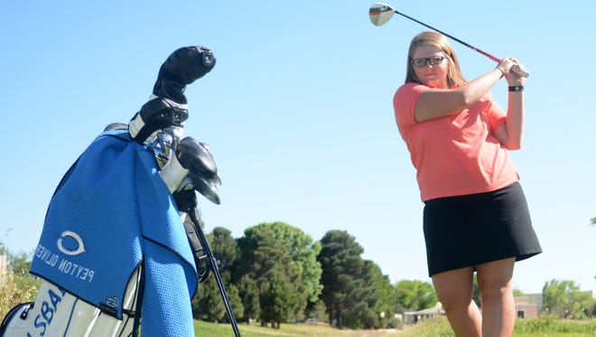 Cavegirls senior golfer Peyton Oliver, who signed with Lubbock Christian University in November, qualified for this year's state championships.