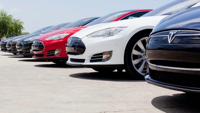 Tesla Model S sedans