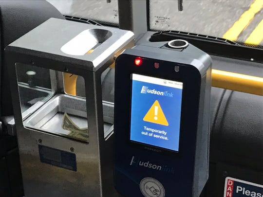 The automated ticket reader said it wasn't working on Day One of the Hudson Link bus service between Rockland and Westchester on Oct. 29, 2018, but electronic tickets -- purchased through the app -- were credited. (The bus driver could not explain how.)