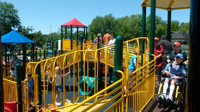 Children of all ages and abilities enjoy the KASH Playground in Mead Park following its grand opening ceremonies in 2006. A Wausau resident has suggested a similar facility within the city in honor of his son.
