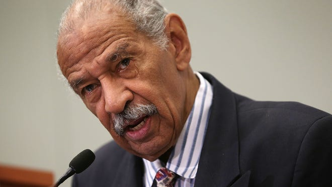 Rep. John Conyers, D-Mich., speaks at a session during the Congressional Black Caucus Foundation's 45th annual legislative conference on Sept. 18, 2015, in Washington.