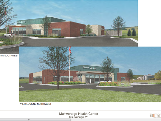 This rendering shows the Aurora medical clinic that is under construction along Highway 83 in the village of Mukwonago. It's just one piece of the four-lot commercial development and a major housing development near Chapman Farms Boulevard.
