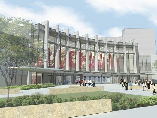 IU Assembly Hall rendering. Groundbreaking ceremonies