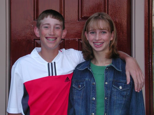 Gordon Hayward and his twin sister Heather on the first