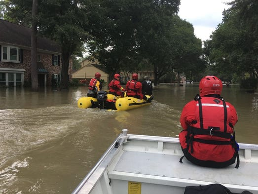 Members of a Tennessee task force work rescue missions