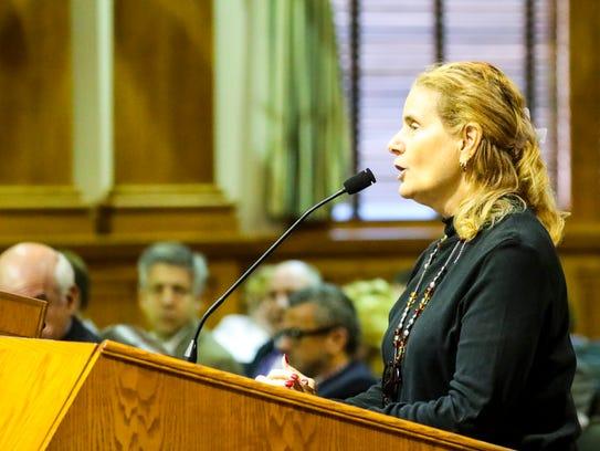 Boni Raitt spoke to the commission about keeping the
