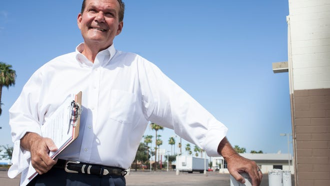Gary Hirsch, shown here in a 2012 photo from his Glendale City Council race, on Saturday became the new Legislative District 30 chairman. Hirsch ousted the incumbent Timothy Schwartz, best known as the author of a Republican resolution censuring U.S. Sen. John McCain, R-Ariz., as too liberal.