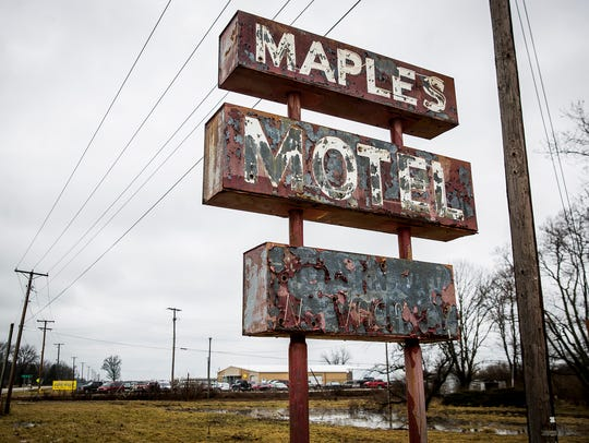 The county owns the former Maples Motel site due to