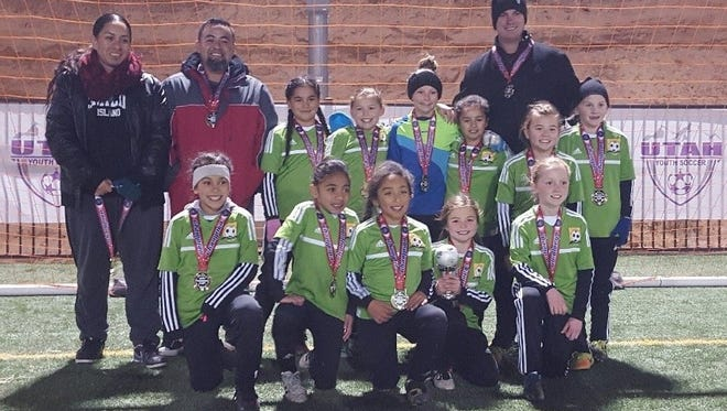 The U10 Blaze of Mesquite won first place in its age division at Utah Youth Soccer's 2017 Presidents Cup.