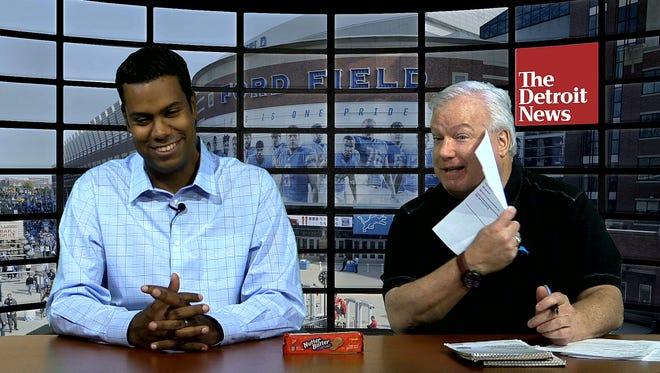 John Niyo, left, and Bob Wojnowski predict the Lions will beat the Vikings on the Detroit News' Lions Lowdown show.